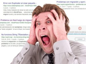 problemas con migracion de pagina web